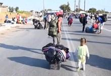 صورة اليونان : بدء نقل آلاف المهاجرين المشردين في جزيرة ليسبوس إلى مخيم جديد ( فيديو )