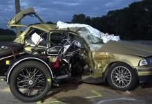 صورة حادث مروع يودي بحياة شخصين على طريق سريع في ألمانيا ( فيديو )