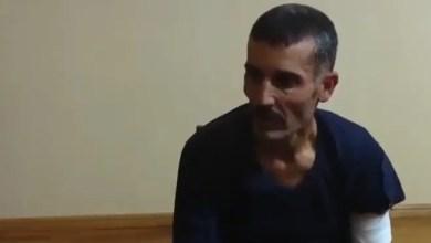 """صورة أرمينيا تنشر فيديو قالت إنه يظهر """" استجواب مسلح سوري أسر في قره باغ """""""