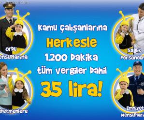 Turkcell BizBize Kamu Herkesle 1200 Dakika Konuşturuyor
