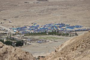camp from a hill