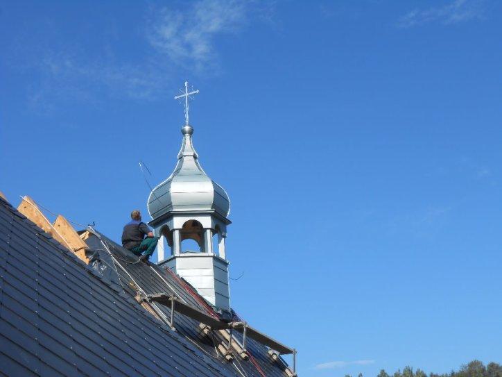 sanktusová věžička kostela Petrovice