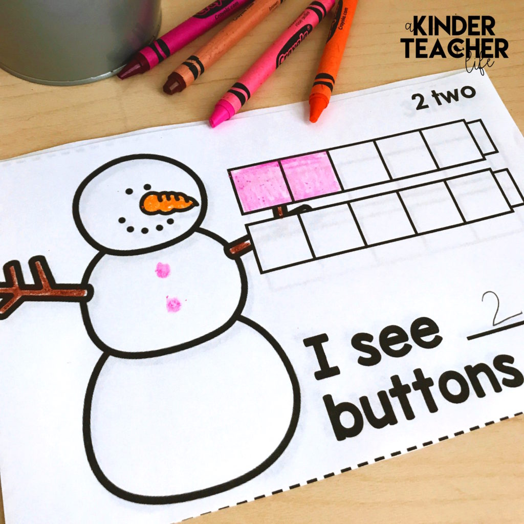 Snowman Counting Book Free Printable