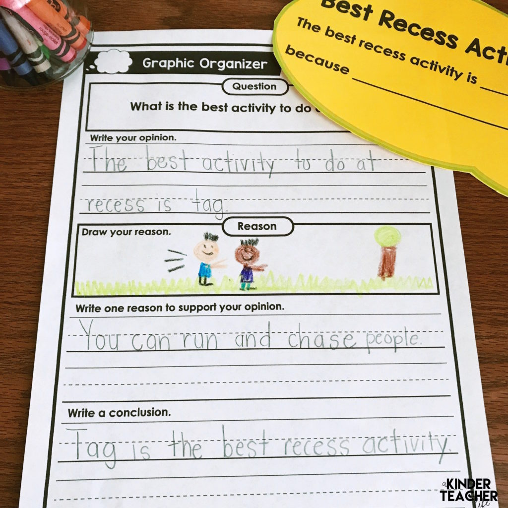 Opinion Writing In Kindergarten