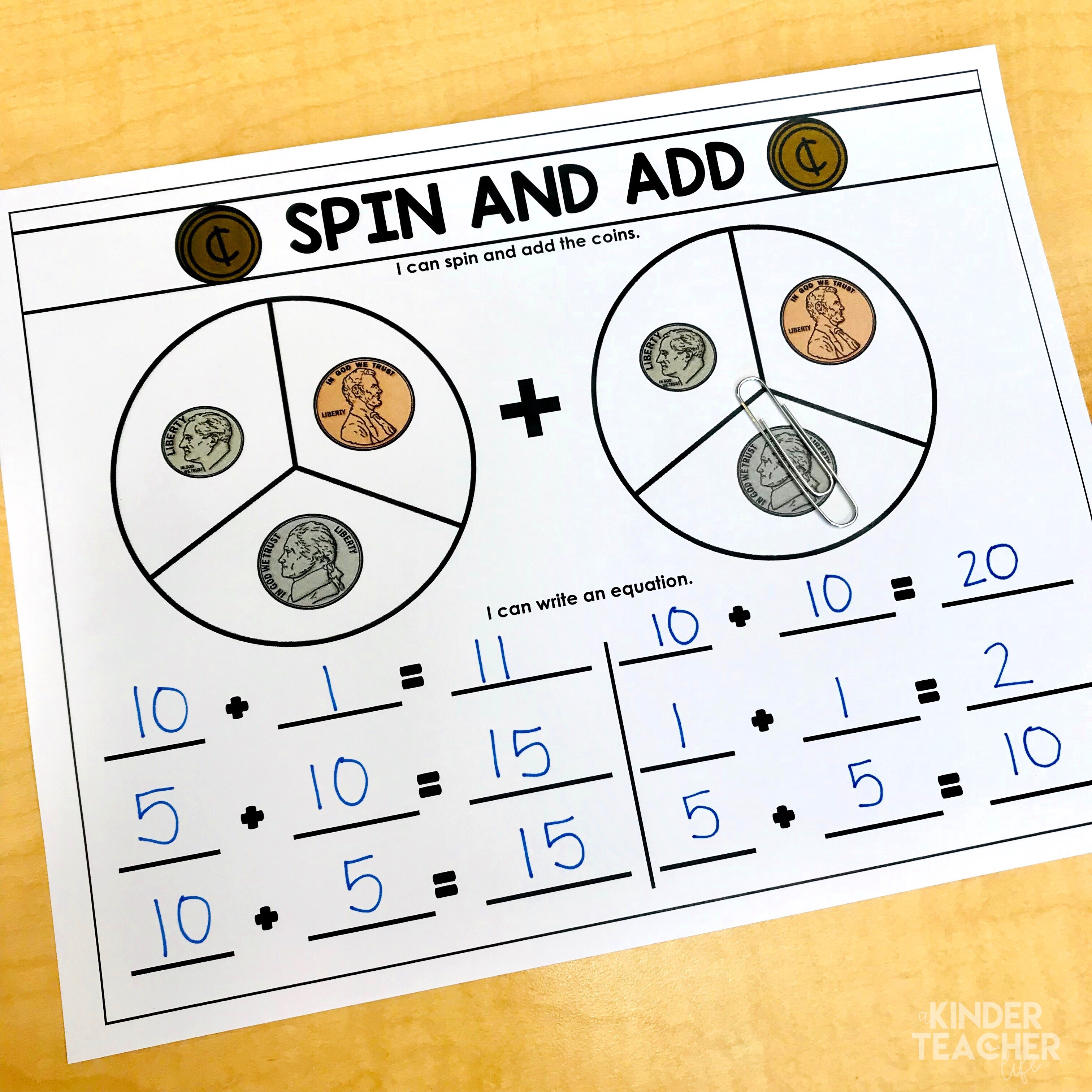 Money Math Center Activities For First Graders