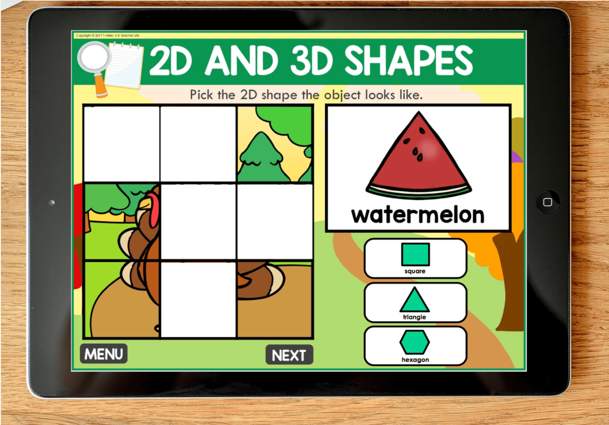 Mystery Pictures 2d And 3d Shapes Digital Game