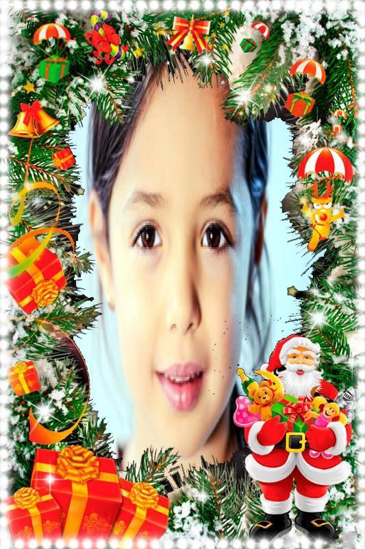 اطار بابا نويل طوق الورد فريم الصور أكتب اسمك على الصور