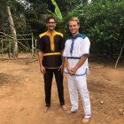 Die beiden Sebastians im ghanaischen Gewand