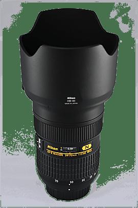 Nikkor 24-70mm (f2,8) mit Sonnenblende