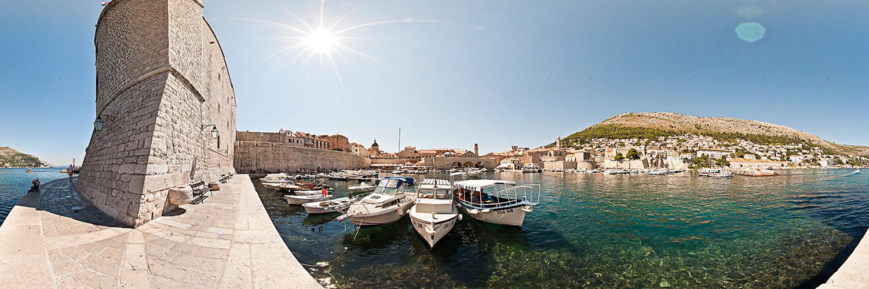 Altstadthafen von Dubrovnik - 360°-Panorama