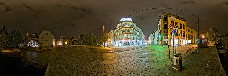 360°-Panorama auf der Schlösserstraße in Erfurt bei der Neuen Mühle