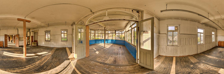 360°-Panorama in Lorch - Gastraum in der ehemaligen Gaststätte Harmonie