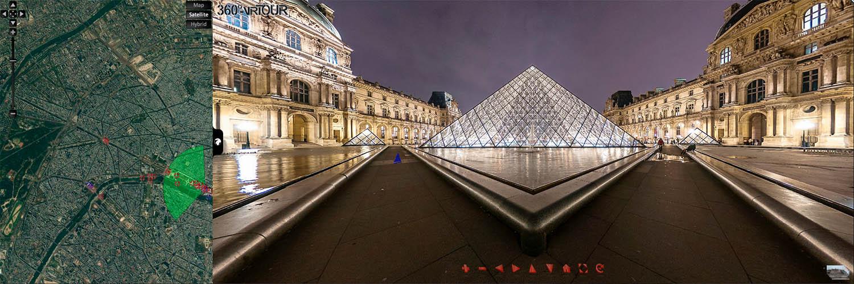 virtuelle Tour durch Paris