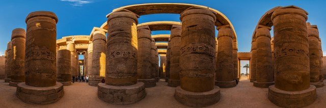 360°-Panorama in der Großen Säulenhalle im Karnak-Tempel in Luxor (Ägypten) - Bild 5