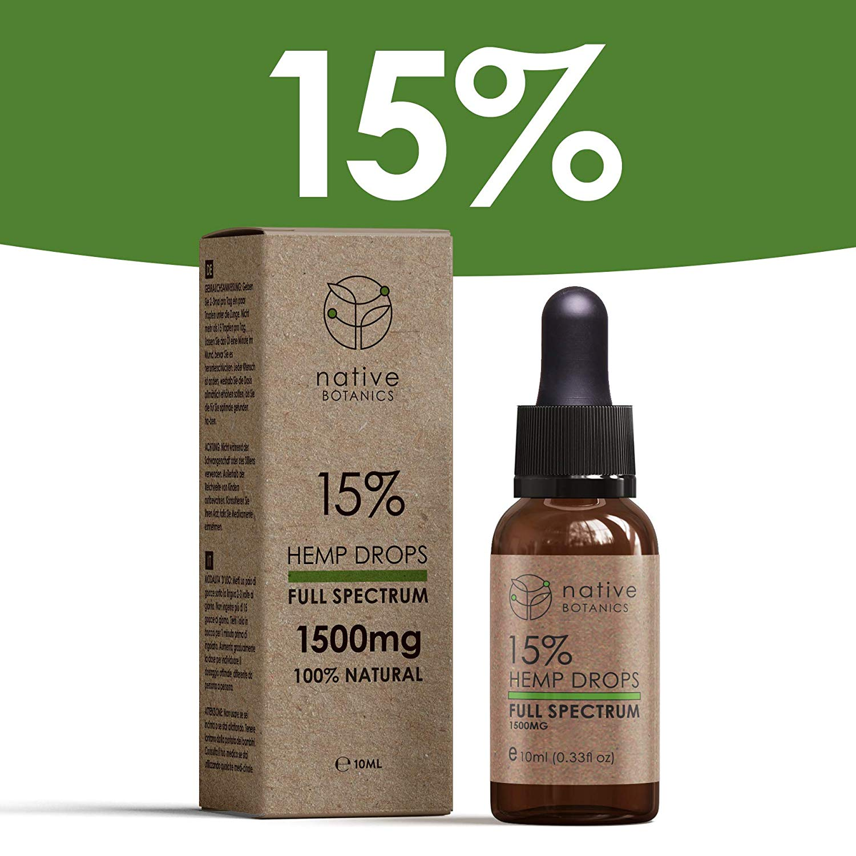 Native Botanics 1500mg (15%) - CBD Oil - AKtive Pharmacy