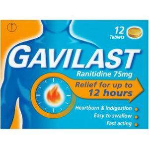 Buy Gavilast Ranitidine 12 Hour Relief 75mg Online