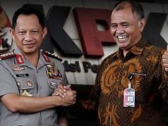 Kapolri Jenderal Tito Karnavian, bersama Ketua KPK Agus Rahardjo. (ilustrasi/aktual.com)