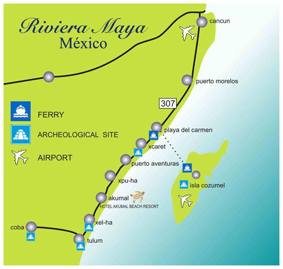 Akumal Mexico Resort Maps