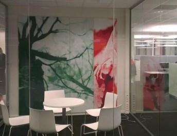 Møterom Frigg 25mm tekstil på vegg