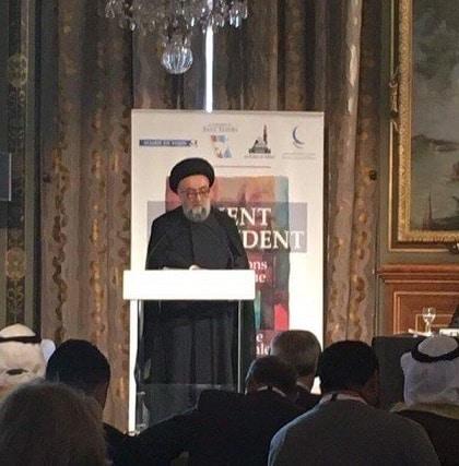 الامين   حوار الثقافات والأديان في خدمة السلام العالمي - باريس 1