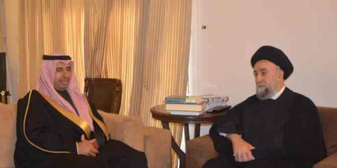 الامين | العلاّمة الأمين استقبل السفير السعودي