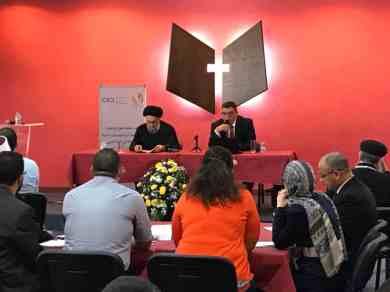 الامين | العلاّمة الأمين محاضراً في منتدى الشباب العربي للحوار بين أتباع الأديان والثقافات 3