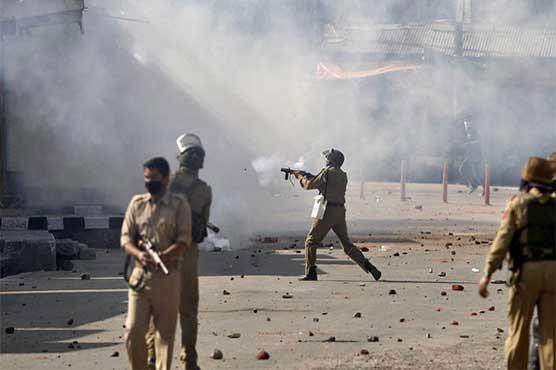 مقبوضہ کشمیر میں 22 ویں روز بھی کرفیو، فائرنگ، گیس شیلنگ جاری متعدد زخمی