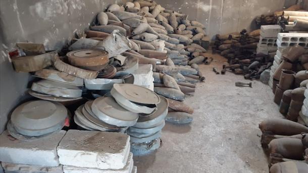 شام میں بارودی سرنگوں کا تربیتی مرکز برآمد