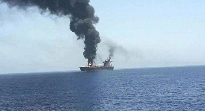 بحر ہند میں اسرائیلی بحری جہاز پر حملہ
