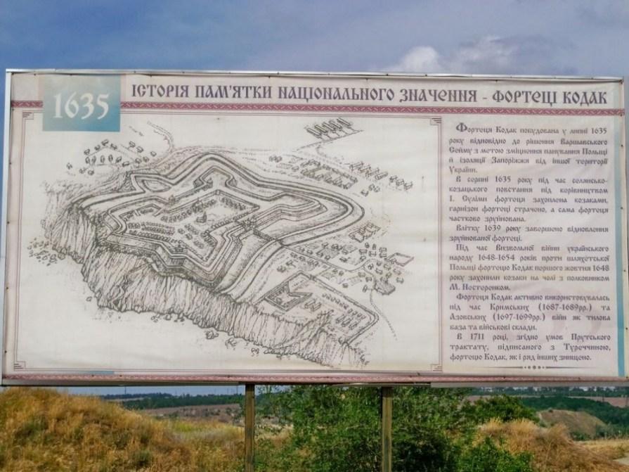 схема фортеці Кодак в селі Старі Кодаки