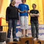 Podium cadets garçons (Coupe du Rhône d'escalade - Anse)
