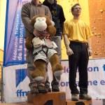 Podium seniors hommes (Coupe du Rhône d'escalade - Anse)