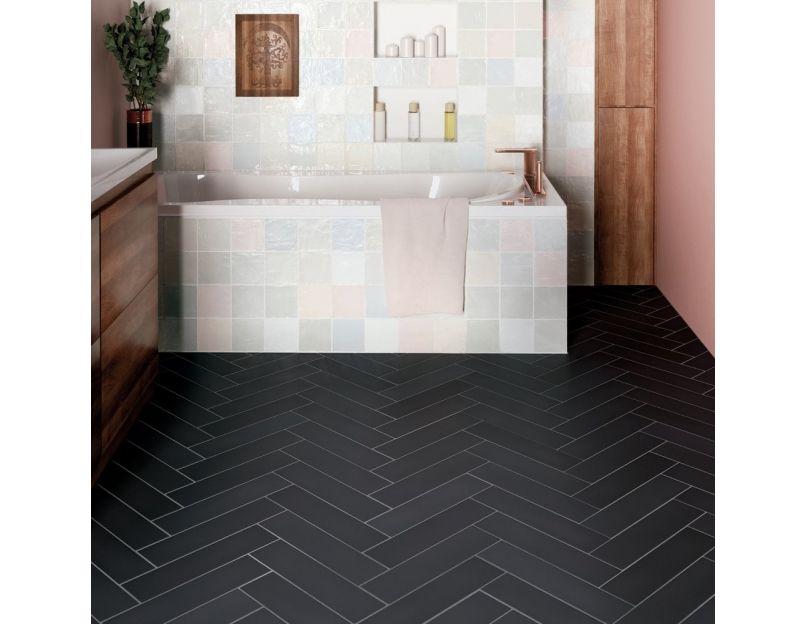 stromboli black city 9 2cm x 36 8cm wall floor tile