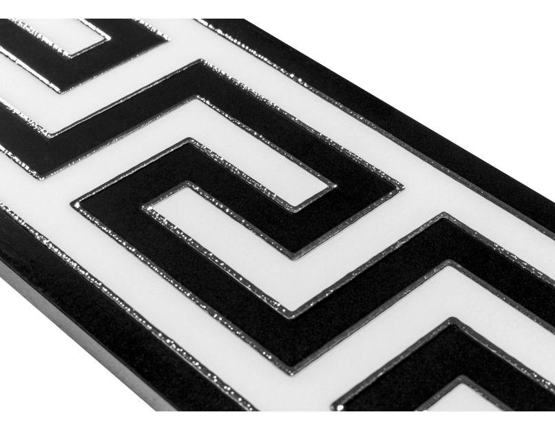 crystal greek key border 15cm x 60cm wall floor tile