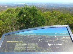 Lookout point at the Mount Lofty summit - Adelaide city is in the middle at the top of the pic.