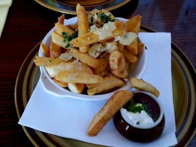 Garlic & parsley chips.