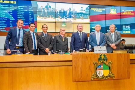 Solenidade de entrega da Medalha Manuel Beckman ao ex-deputado Celson Coutinho, na Assembleia