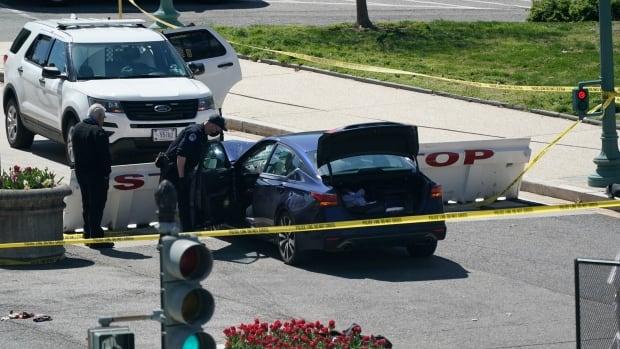 اقتحم السائق السيارة بحاجز بالقرب من مبنى الكابيتول الأمريكي