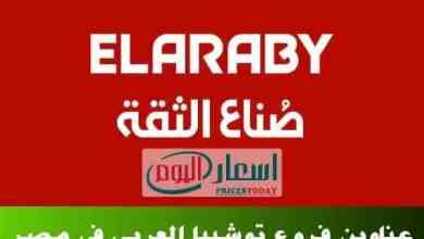 عناوين فروع وكالة توشيبا العربية بجميع محافظات مصر