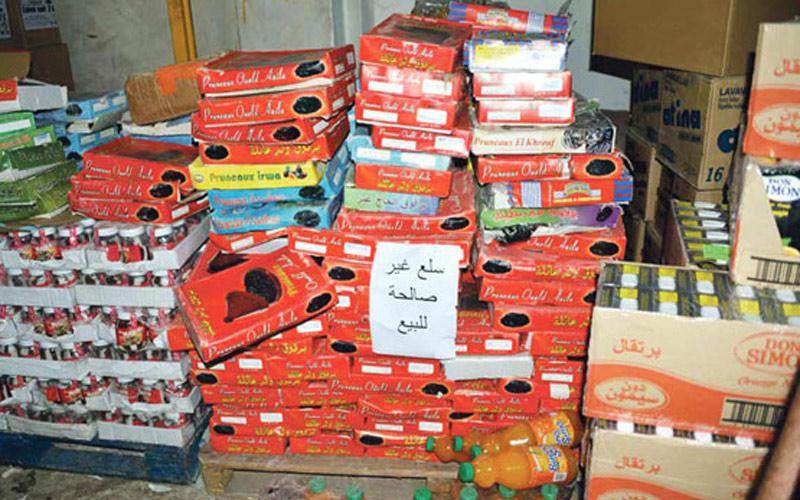 تقديم 275 ملف غش أمام المحكمة وحجز وإتلاف 478 طنا من المنتجات الغذائية غير الصالحة للاستهلاك الشهر الماضي