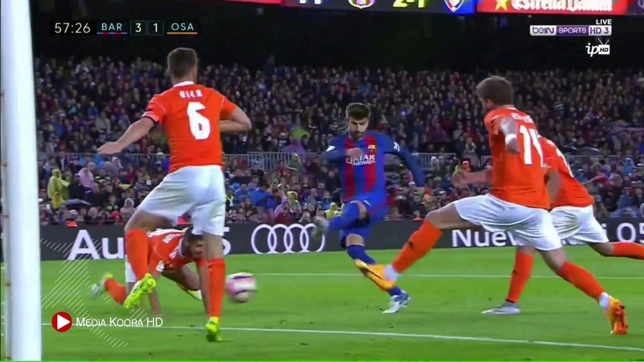 الدوري الاسباني : ملخص مباراة برشلونة واوساسونا