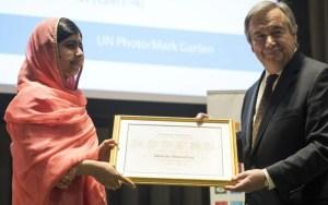 الباكستانية ملالا تعين كأصغر سفيرة للسلام