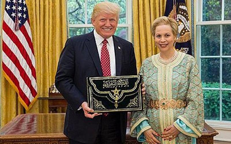 ترامب يستقبل للا جمالة العلوي سفيرة المغرب بأمريكا