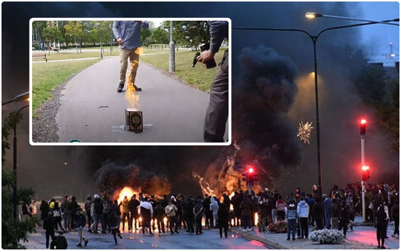 (فيديو) بعد حرق متطرف للقرآن بالسويد.. صدامات عنيفة وتنديد إسلامي بـ'العمل الاستفزازي'