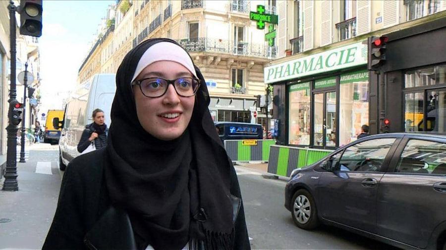 بالفيديو. طالبة مغربية محجبة تعيد جدل 'الحجاب' إلى الواجهة السياسية بفرنسا