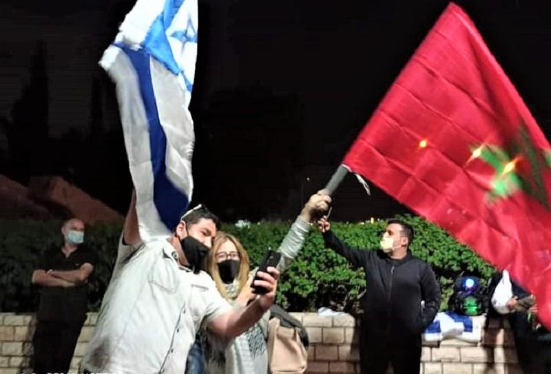(فيديو + صور) اليهود المغاربة يتضامنون مع الصحراء المغربية داخل أشدود الإسرائيلية