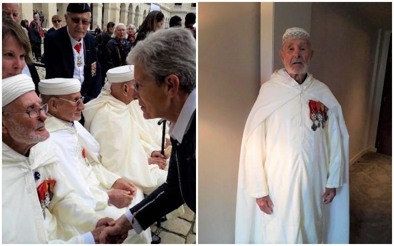عمره 102 سنة.. فرنسا تكرم جندياً مغربياً شاركها الحرب العالمية الثانية (صور)