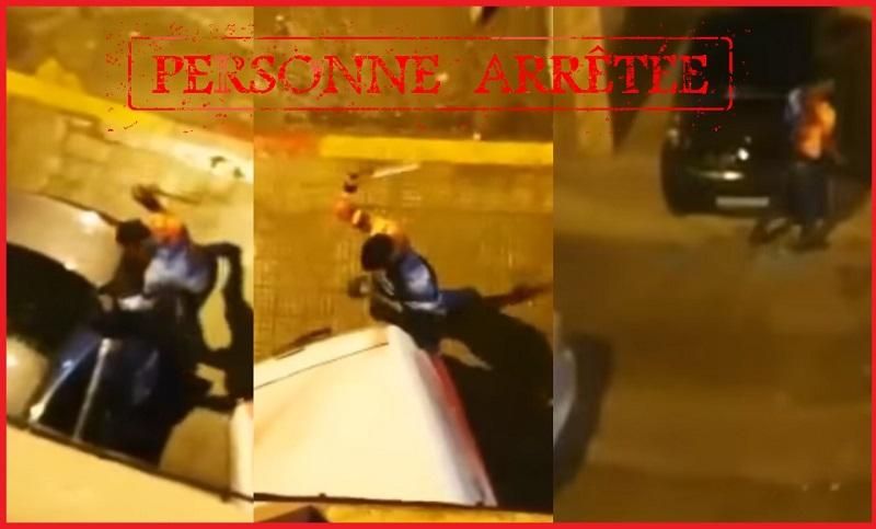 """تداوله المغاربة بينهم.. الشرطة تسقط """"بطل"""" فيديو تكسير زجاج السيارات بالمحمدية"""