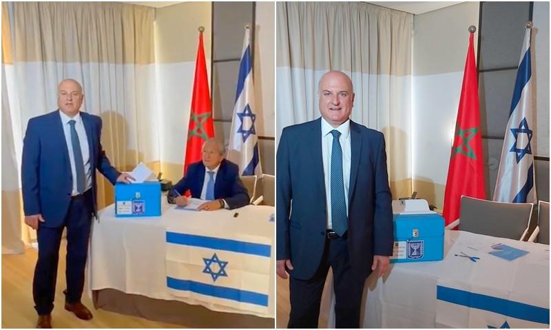 (فيديو) السفير الإسرائيلي يصوت في الانتخابات بالرباط: يوم تاريخي في حياتي من المملكة الشريفة