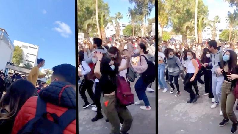 (فيديو) بسبب حفل 'خارق' للطوارئ.. السلطات تحظر الدراسة بثانوية ليوطي بكازا